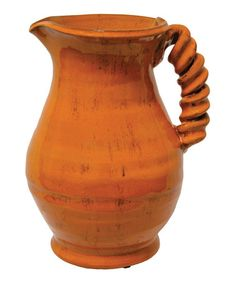 Take a look at this Orange Palermo Pitcher by The Import Collection on #zulily today!