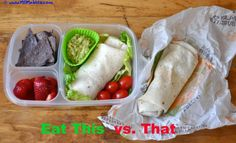 Lunchbox wars. this vs that burrito lunch