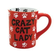 Enesco 4026109 Our Name Is Mud by Lorrie Veasey Crazy Cat Lady Mug, 4-1/2-Inch,$10.00