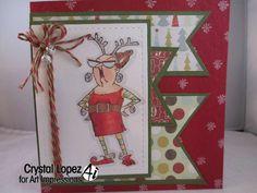 Reindeer Games by Crystal , Art Impression stamp
