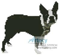 Mini Boston Terrier Cross Stitch Pattern http://www.artecyshop.com/index.php?main_page=product_info&cPath=11_12&products_id=813