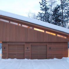 modern garage and shed by FINNE Architects