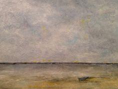 Large Abstract Seascape Ocean Beach Painting  by JenniferStatenArt