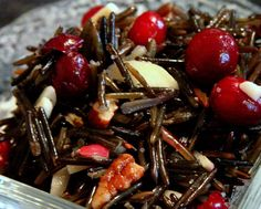 Cranberry Wild Rice Salad (GF, Vegan, Anti Candida, Nut free option) | My Real Food Life