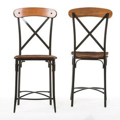 Modern Industrial Vintage Mid Century Style Counter Stool Set (2) New #Modern