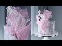 Creative Cake Decorating, Cake Decorating Piping, Cake Decorating Techniques, Cake Decorating Tutorials, Creative Cakes, Wafer Paper Flowers, Wafer Paper Cake, Beautiful Cakes, Amazing Cakes