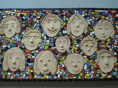 Image details for – Mostly Mosaics School Projects ** Suitable for station activity - Worldpin. Clay Projects For Kids, Group Art Projects, Kids Clay, School Art Projects, Painting For Kids, Art For Kids, School Murals, Ceramics Projects, Arte Popular