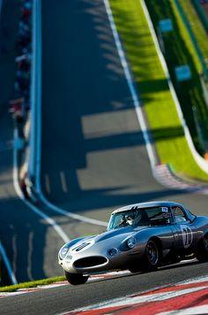 E type Jaguar at Spa.