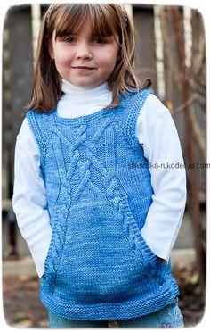 Knitting Patterns Girl Children  vest knitting with pockets. We knit a  children  vest . 69a016442a9