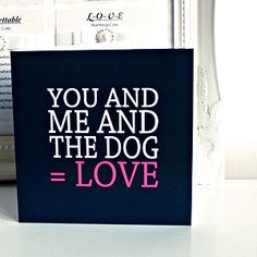 'You And Me And The Dog' Card - valentine's cards