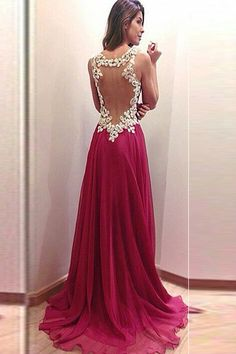 Charming New Arrival A-Line Appliques Prom Dress ED8