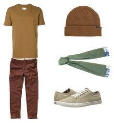 """""""Toy Story: Slinky the dog"""" by smmashley ❤ liked on Polyvore featuring Hollister Co., Ben Sherman, Maison Margiela, Vans, S.T. Dupont, men's fashion and menswear"""