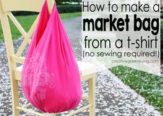 no sew tote from tee shirt