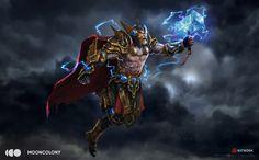 Legendary Thor, Evren İnce on ArtStation at https://www.artstation.com/artwork/6q2dN