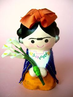 Frida Kahlo Paper Mache Doll by AmericaP on Etsy