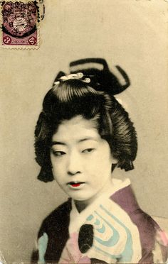 Geisha in Purple and Blue 1905 by Blue Ruin1, via Flickr