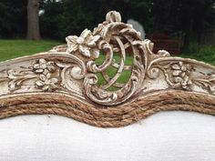 Antique French Rustic Settee Set by Antique2Chic on Etsy