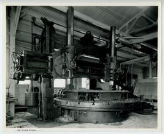 """1940's Photo~148"""" Betts Vertical Boring Mill, National Iron Works, San Diego, CA"""