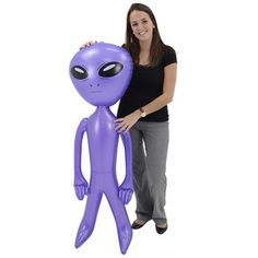 Inflatable Alien - Extra Large | Kids Blow Up Alien Toy
