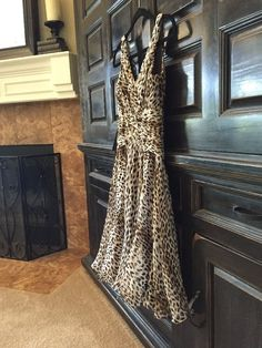TADASHI COLLECTION BLOOMINGDALES Silk Dress $300+ NWT Animal Print Cocktail #Tadashi #Sexy #Cocktail