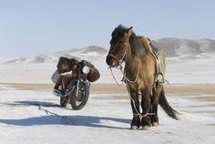 old & new single-rider transportation