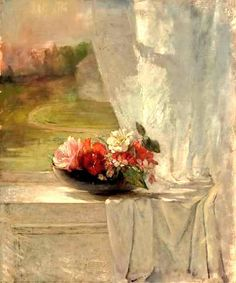 @AdrianaCioci  John La Farge 1861 Flowers on a Window Ledge