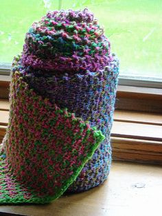 Noro Slip Stitch Stripe Scarf - free pattern. Simple stitch, but the yarn makes it look spectacular.