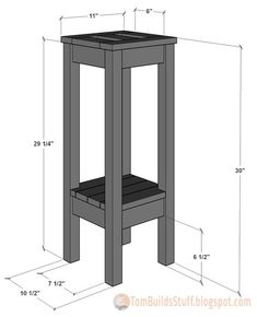 Free woodworking plans to build a tile top plant stand. Free woodworking plans to build a tile top plant stand. Diy Wood Projects, Furniture Projects, Furniture Plans, Home Projects, Diy Furniture, Furniture Removal, Rustic Furniture, Luxury Furniture, Tall Plant Stands