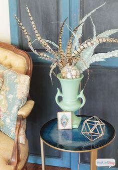 Atta Girl Says | Vintage Meets Modern Living Room Decorating Ideas | http://www.attagirlsays.com