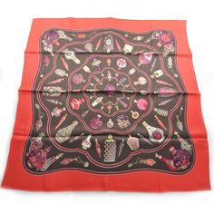 This is an HERMES Vintage Silk Flacons Scarf 70.   This is a stunning 100 silk scarf.