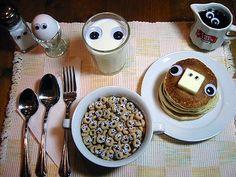 Breakfast is watching you