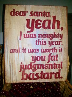 Hey, I found this really awesome Etsy listing at https://www.etsy.com/listing/170259358/custom-sign-pallet-wood-sign-santa