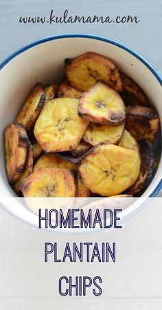 homemade plantain chips from www.kulamama.com