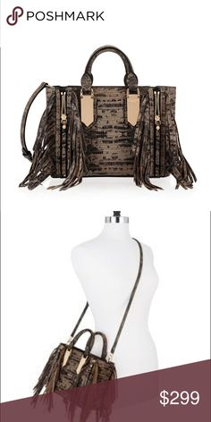 Henri Bendel A-List Mini Snake Fringe Satchel In mint condition and stunning. Very fashion-forward and functional to boot. Surprisingly fits all your necessities and is stunning. Just haven't used it and deserves to be showcased. No longer available so grab now while you can. Comes with dustbag. No trades/modeling. henri bendel Bags Satchels