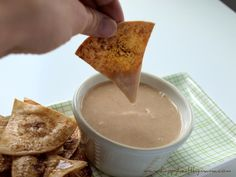 Bean dip doesn't have to be savory. Try this unique sweet white bean dip with apple juice and maple syrup!