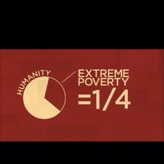 1/4 of the World Lives in Extreme Poverty.