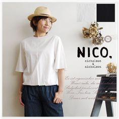 【nico by nicholson and nicholson ニコ ニコルソンアンド ニコルソン】裾 バルーン ブラウス (bubble)