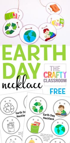 {pinterest1 Free Earth Day Printables: Necklace Craft for Kids https://thecraftyclassroom.com/2018/04/19/free-earth-day-printables-necklace-craft-kids/?utm_campaign=coschedule&utm_source=pinterest&utm_medium=Valerie&utm_content=Free%20Earth%20Day%20Printables%3A%20Necklace%20Craft%20for%20Kids}