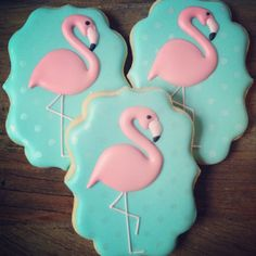 Starting the year off with adorable flamingos!... - Flying Squirrel Cookies