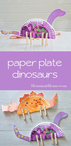Paper Plate Dinosaurs | Homan at Home