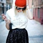 Graphic tee and sequin skirt - LikeaLady.net