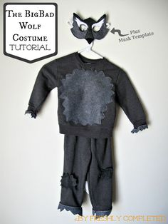 It is supper Cuteee for a red Riding Hood Birthday party.The Big Bad Wolf Costume Tutorial
