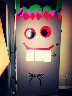 Happy monster Halloween door!