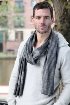 Mens Bewitched Twin Stripe Scarf £15.50