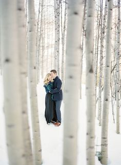 A Winter Engagement Session in Colorado - KT Merry Photography