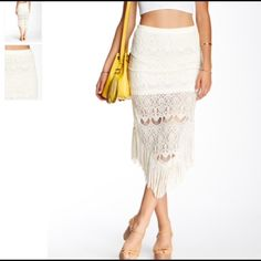 Nwt Romeo and Juliet couture fringe skirt No flaws brand new no trades Romeo & Juliet Couture Skirts