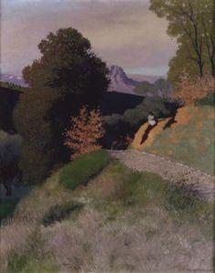 Environs de Cagnes le soir (1924), by Félix Vallotton (1865-1925).