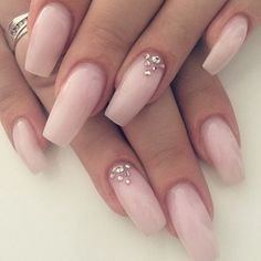 My favorite color for nails! A sheer baby pink ☺️