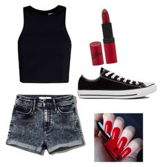 Untitled #20 by jessie2705 on Polyvore featuring polyvore, fashion, style, T By Alexander Wang, Abercrombie & Fitch, Converse, Rimmel and H&M