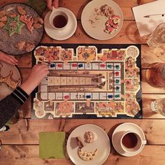 Board games cookies and La Esmeralda Panama (Geisha) by @coffeecollectif. I love these days!  #hamburg #coffeecollective #kaffebox by lastguest_hh